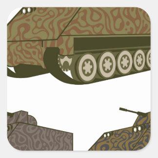 Personnel carrier Camo Square Sticker