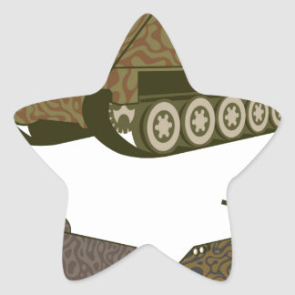 Personnel carrier Camo Star Sticker