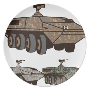 Personnel carrier Camo vector Dinner Plate  sc 1 st  Zazzle : dinner plate carrier - Pezcame.Com