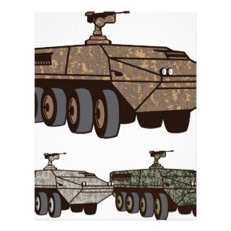 Personnel carrier Camo vector Letterhead