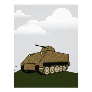 Personnel carrier grey sky letterhead