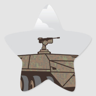 Personnel carrier grey sky star sticker