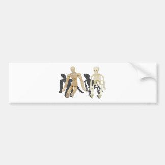 PersonSkeletonSitting103013.png Car Bumper Sticker
