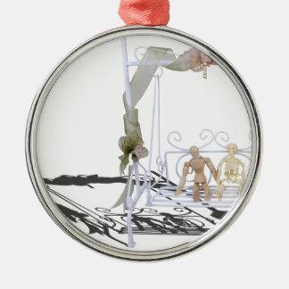PersonSkeletonSwingSet103013.png Metal Ornament