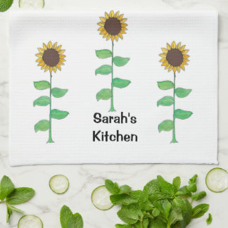 Personzlized, Sunflower American MoJo Kitchen Towe Hand Towels