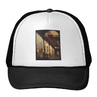 Perspectiva con un pórtico gorras de camionero