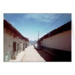 Perspectiva de una calle en Veracruz Tarjeta De Felicitación