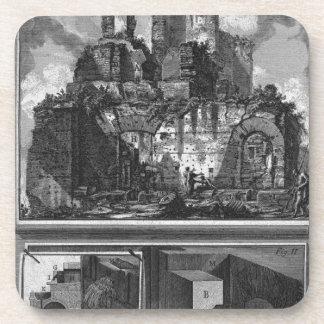 Perspectiva de uno de los lados, y construcción posavaso