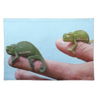 Perspectiva del camaleón del bebé mantel individual