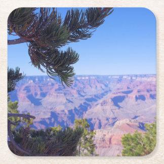 Perspectiva del Gran Cañón - Arizona - práctico de Posavasos Personalizable Cuadrado
