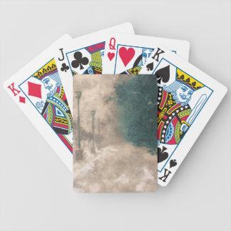 Perspectiva del invierno baraja cartas de poker