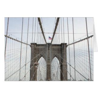 Perspectiva del puente de Brooklyn Tarjeta Pequeña