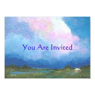 """Perspectiva le invitan de la pintura original invitación 4.5"""" x 6.25"""""""