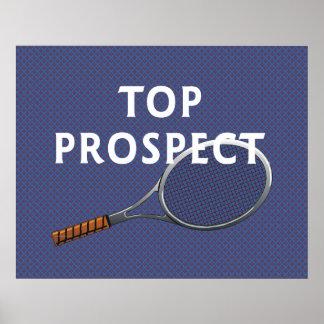 Perspectiva SUPERIOR del tenis Posters