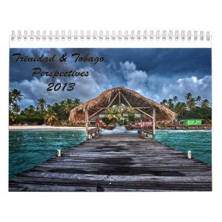 Perspectivas 2013 de Trinidad y de Trinidad y Toba Calendarios De Pared
