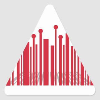 Perspective Barcode Triangle Sticker