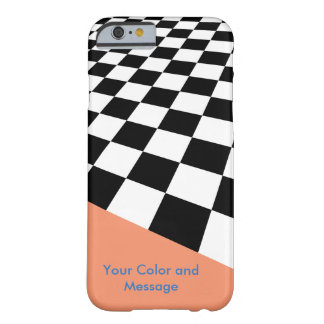 Perspective Checkers Design Barely There iPhone 6 Case