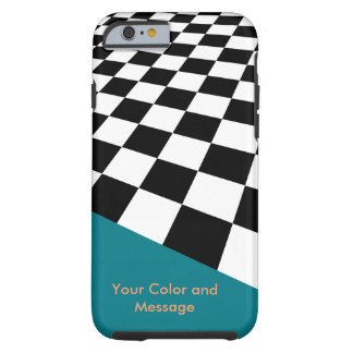 Perspective Checkers Design Tough iPhone 6 Case