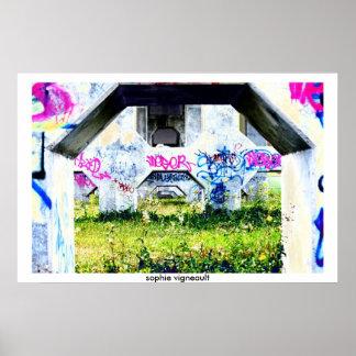 perspective graffiti poster
