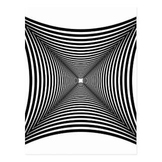 Perspective illusion postcard