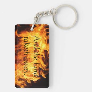 Perspective Double-Sided Rectangular Acrylic Keychain