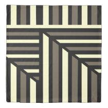 Perspective Line Art Stripe Duvet Cover