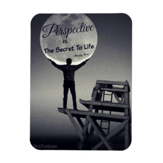 Perspective magnent rectangular photo magnet