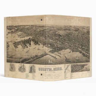 Perspective Map of Duluth Minnesota (1893) 3 Ring Binder
