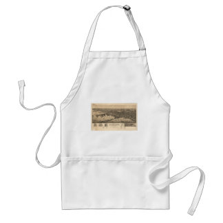 Perspective Map of Duluth Minnesota (1893) Adult Apron