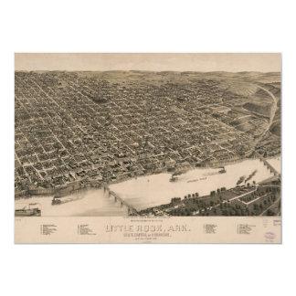 Perspective Map of Little Rock, Arkansas (1887) Card