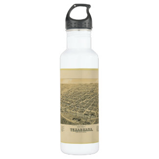 Perspective map of Texarkana Texas and Arkansas Water Bottle