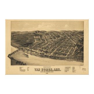 Perspective Map of Van Buren Arkansas (1888) Canvas Print