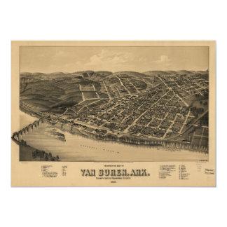 Perspective Map of Van Buren Arkansas (1888) Card