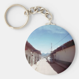 Perspective of a street in Veracruz Basic Round Button Keychain