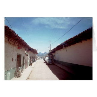 Perspective of a street in Veracruz Card