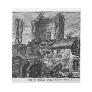 Perspective of the front of the Castle Ruins Notepad