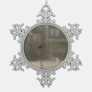 Perspective Snowflake Pewter Christmas Ornament