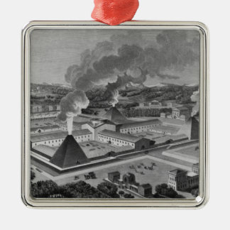 Perspective view of a canon forge christmas tree ornaments