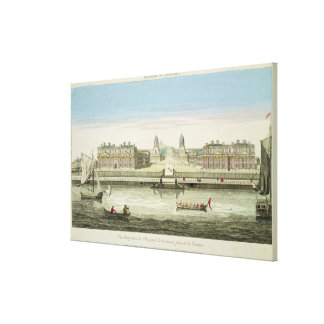 Perspective View of Greenwich Hospital on the Tham Stretched Canvas Print