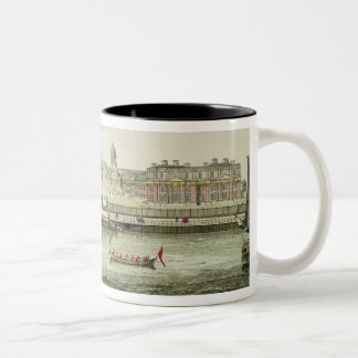 Perspective View of Greenwich Hospital on the Tham Two-Tone Coffee Mug