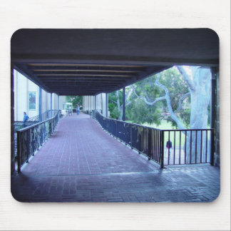 Perspective View Of Main Library Walkway In Univer Mouse Pad
