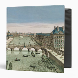 Perspective View of Paris from the Pont Royal 3 Ring Binder