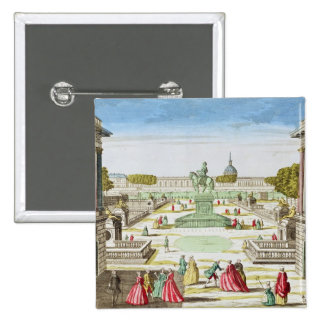 Perspective View of Place Louis XV Pinback Button
