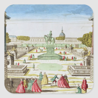 Perspective View of Place Louis XV Square Sticker