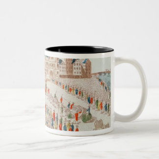 Perspective view of the arrival of Louis Two-Tone Coffee Mug