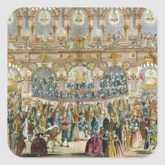 Perspective View of the Ballroom, constructed in t Square Sticker
