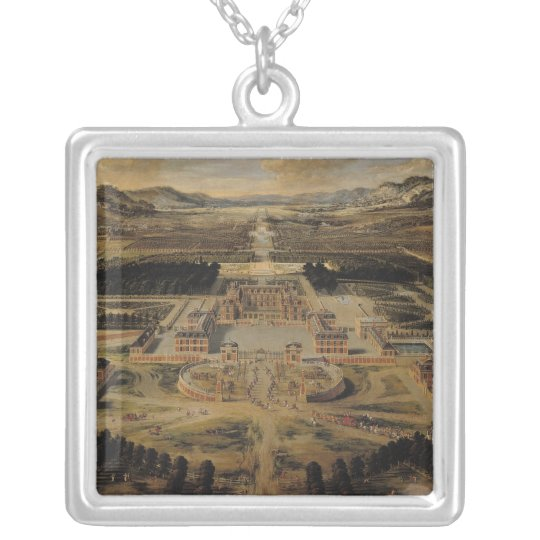 Perspective view of the Chateau Silver Plated Necklace