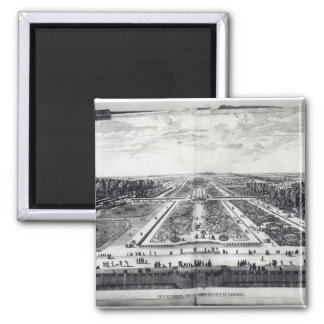 Perspective View of the Garden 2 Inch Square Magnet