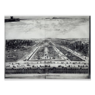 Perspective View of the Garden Poster