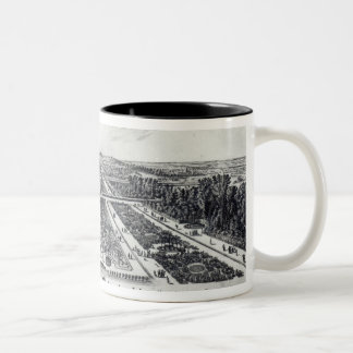 Perspective View of the Garden Two-Tone Coffee Mug